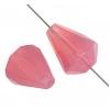 Fire polished 16x12mm Drop Pink Opal Natural Strung